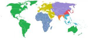 mappa che mostra la piu' alta concentrazione di popolazione
