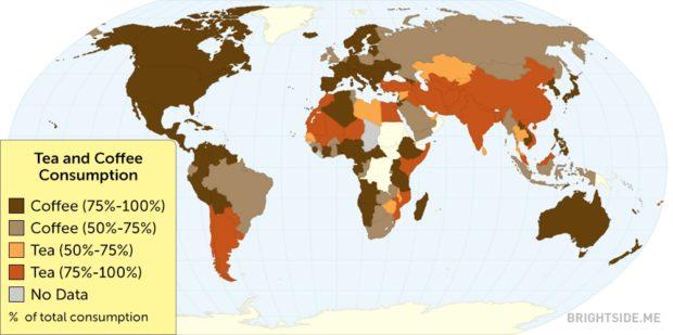 mappa consumo di caffe