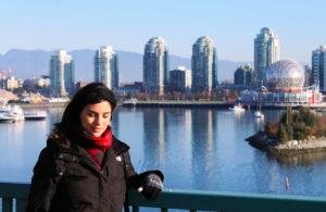 olympic village SABRINA SI E' TRASFERITA A VIVERE A VANCOUVER IN CANADA