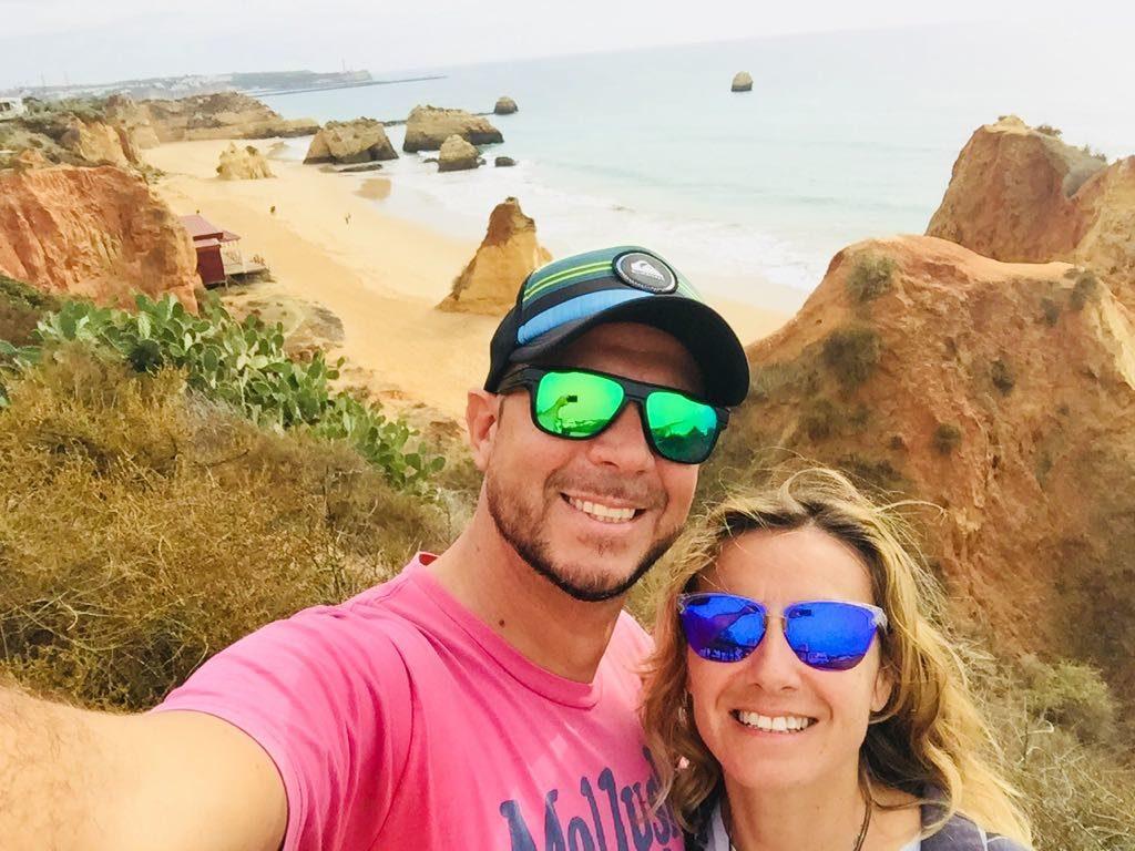 Daniele e Valeria organizzano eventi sportivi in Algarve