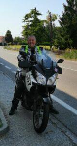 Sergio in moto